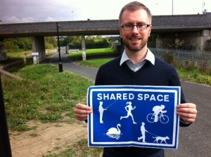 We need better signage along the Royal Canal greenway, to remind all users that it is a shared space.