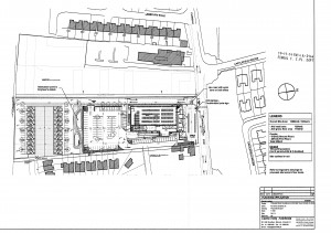 Plan of proposed Aldi store and housing development in Clonsilla