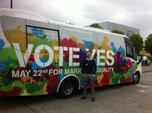 The Yes Equality national bus tour in the Blanchardstown Town Centre