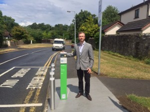 New ecar charge point on Mill Road, Blanchardstown