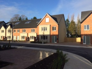 Some of the new social houses at Rossan Court, Waterville, D15