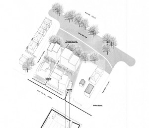 Ariel view of proposed new development