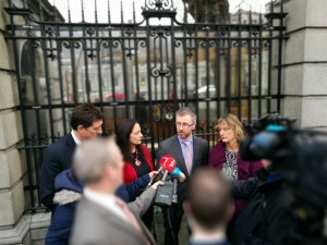 At the Dail calling for a moratorium on all home repossessions