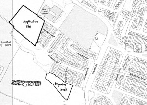 Location of the two sites for the proposed new houses
