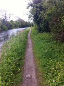 'Deep Sinking' section of Royal Canal between Castleknock and Coolmine train stations